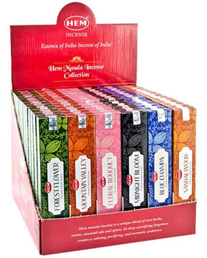 15 Gram Hem Masala Incense Display Set - 72 Packs