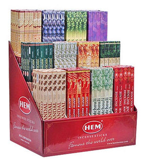 8 Sticks Hem Square Incense Display Set - 300 Packs