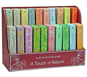 10 Gram Pack Auroshikha Incense Sticks Display Set - 200 Packs