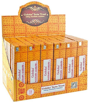 1 Goloka Nag Champa Incense Display Set - 72 Packs