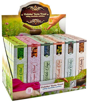 4 Goloka Popular Series Incense Display Set - 72 Packs