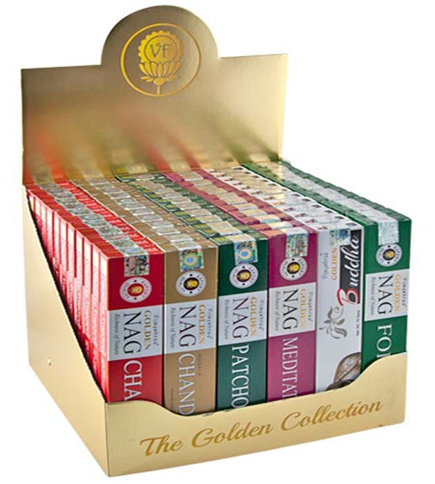 1 The Golden Collection Incense Display Set - 72 Packs