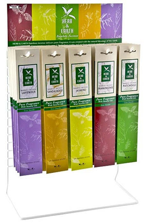 Herb & Earth Incense Sticks Display Set - 30 Packs