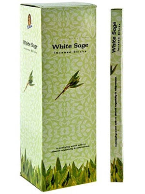 Kamini White Sage Incense - 8 Stick Packs (25 Packs Per Box)