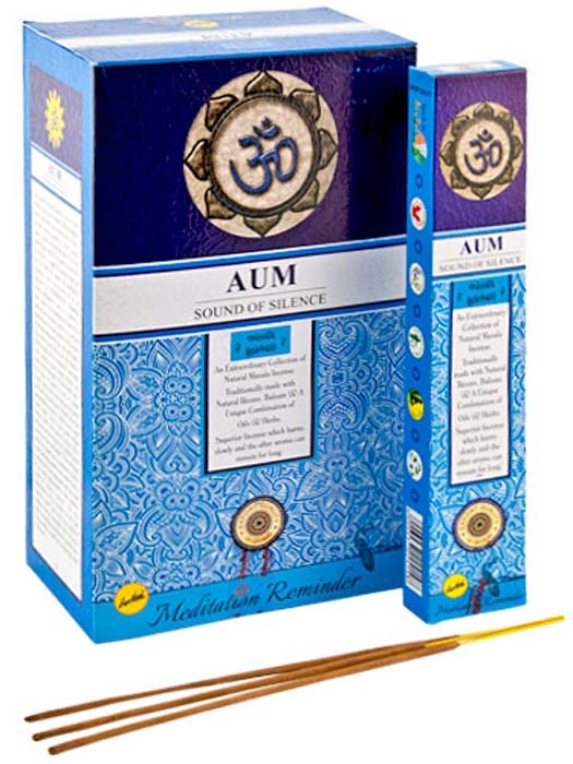 Aum, Sound of Silence Incense - 15 Gram Pack (12 Packs Per Box)