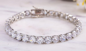 42.00 CTTW Tennis Bracelet with Swarovski Crystals