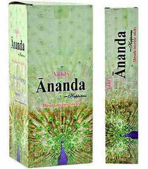 Nikhil Anand (Happiness) Incense - 15 Gram Pack (12 Packs Per Box)