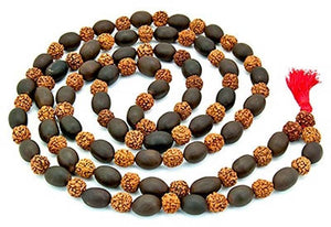 Rudraksha with Lotus Seed Prayer Mala - 8mm