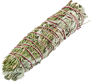 "Rosemary + White Sage Smudge Stick - 8""L (Large)"