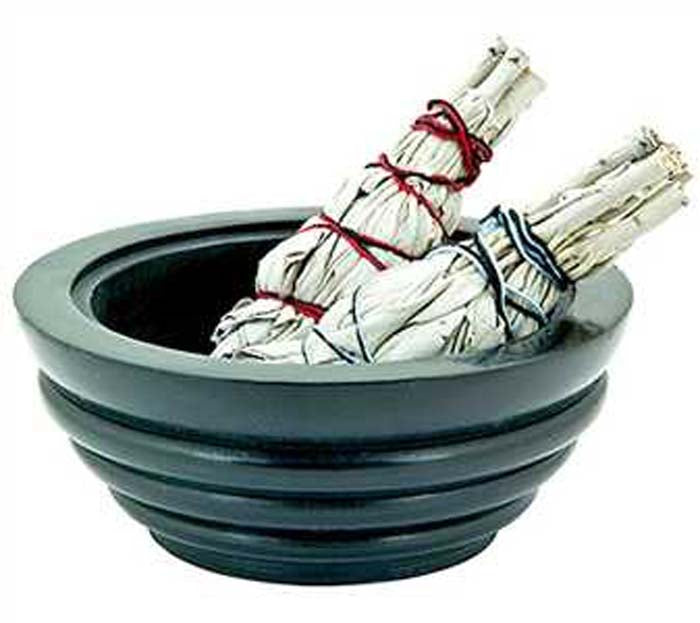 "Smudge Pot or Charcoal Burner - 5""D, 2""H"
