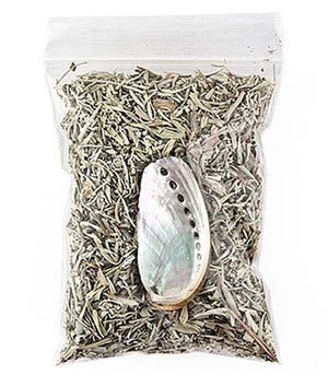 Shasta Sage Leaves & Mini Abalone Set - 3 x 4 Bag