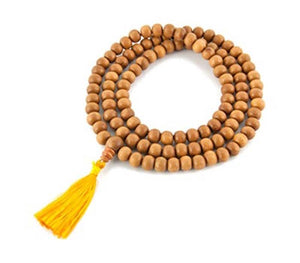 Tibetan Sandalwood Prayer Mala - 6 mm