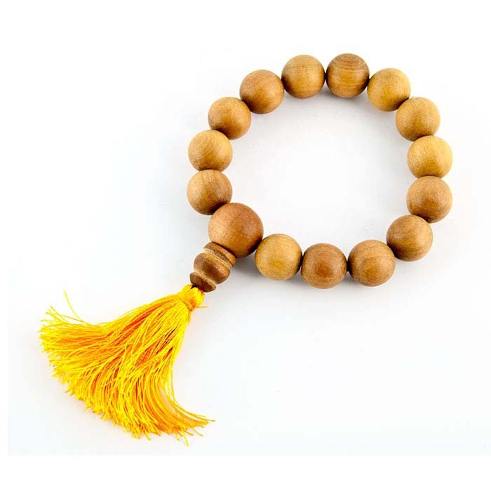 12mm Tibetan Sandalwood Fine Stretch Bracelet