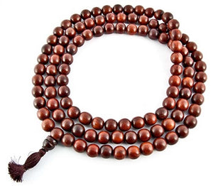 16mm Tibetan Red Sandalwood Superfine Prayer Mala - 108 Beads