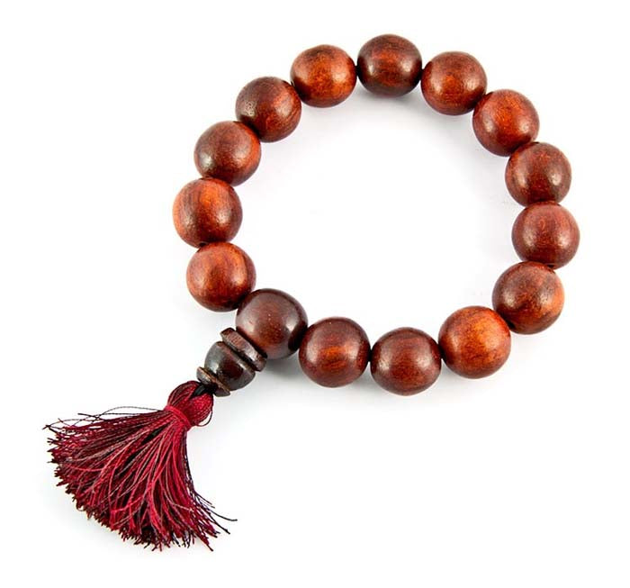 14mm Tibetan Red Sandalwood Fine Stretch Bracelet