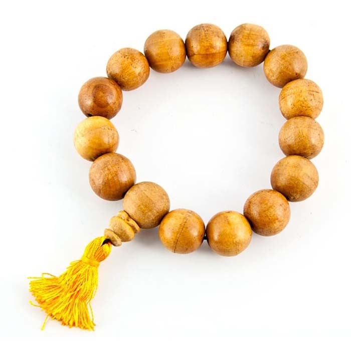 14mm Tibetan Wooden Stretch Bracelet - Sold as as Set of  2