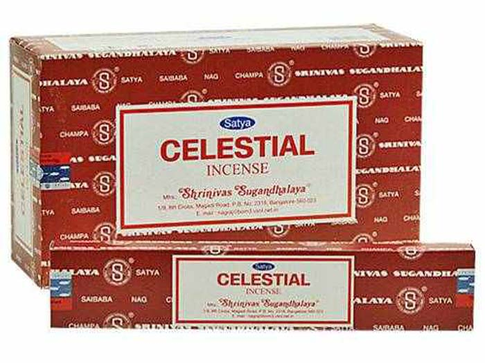 Satya Celestial Incense - 15 Gram Pack (12 Packs Per Box)