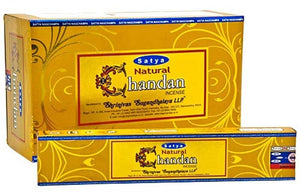 Satya Natural Chandan (Sandalwood) Incense - 15 Gram Pack (12 Packs Per Box)