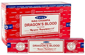 Satya Dragons Blood Incense - 15 Gram Pack (12 Packs Per Box)