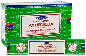 Satya Ayurveda Incense - 15 Gram Pack (12 Packs Per Box)