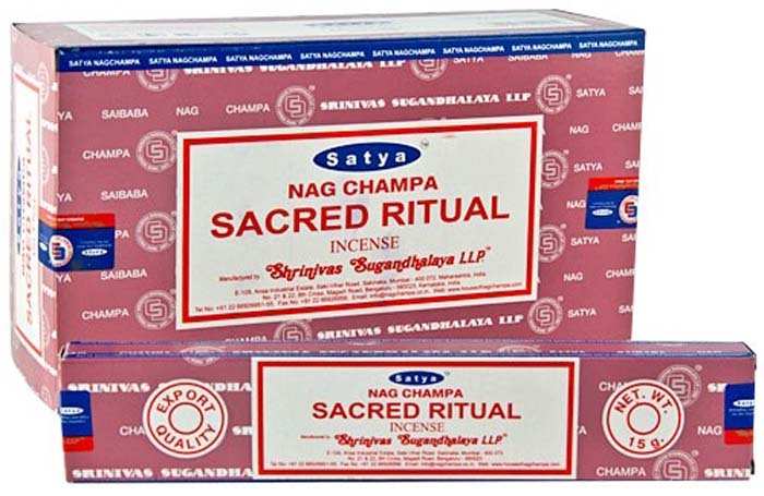 Satya Sacred Ritual Incense - 15 Gram Pack (12 Packs Per Box)