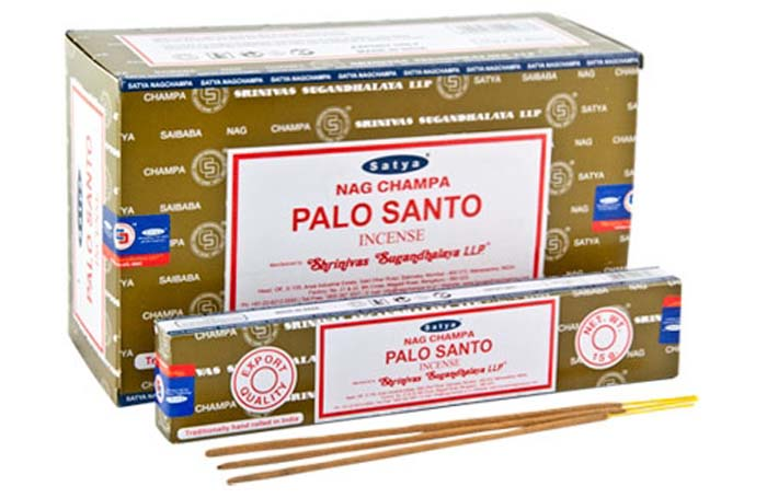 Satya Palo Santo Incense - 15 Gram Pack (12 Packs Per Box)