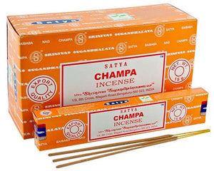 Satya Champa Incense - 15 Gram Pack (12 Packs Per Box)