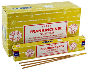 Satya Frankincense Incense - 15 Gram Pack (12 Packs Per Box)