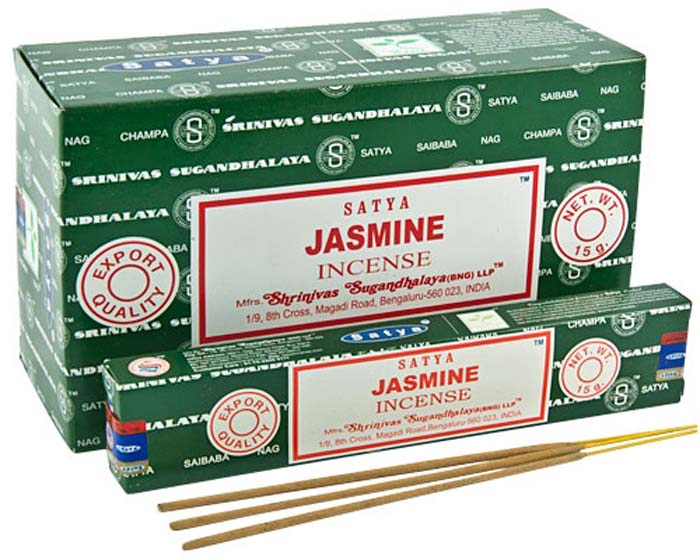 Satya Jasmine Incense - 15 Gram Pack (12 Packs Per Box)