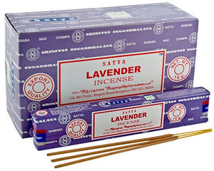 Satya Lavender Incense - 15 Gram Pack (12 Packs Per Box)