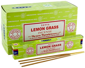 Satya Lemongrass Incense - 15 Gram Pack (12 Packs Per Box)