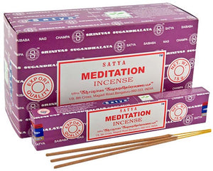 Satya Meditation Incense - 15 Gram Pack (12 Packs Per Box)