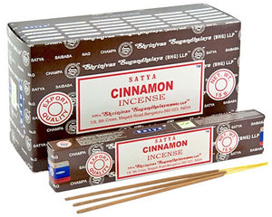 Satya Cinnamon Incense - 15 Gram Pack (12 Packs Per Box)
