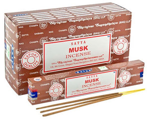 Satya Musk Incense - 15 Gram Pack (12 Packs Per Box)