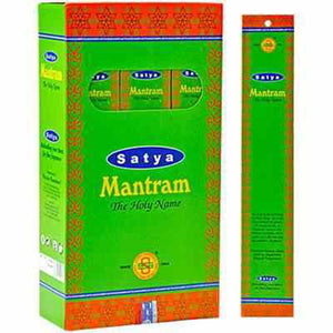 Satya Mantram Incense - 15 Gram Pack (12 Packs Per Box)