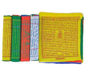 "Tibetan Prayer Flag 5-rolls (10 Flags each) - 6.5""W, 7.5""L"