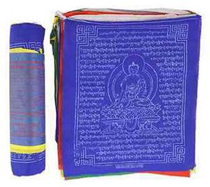"Medicine Buddha Prayer Flag (25 Flags) - 8""W, 9.5""L"