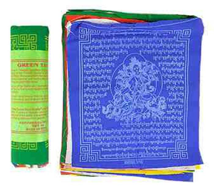 "Green Tara Prayer Flag (25 Flags) - 8""W, 9.5""L"