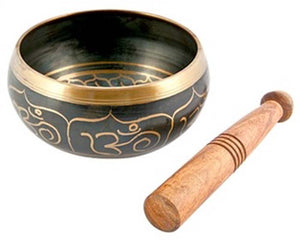 "Om Symbol Tibetan Meditation Singing Bowl - 7""D"