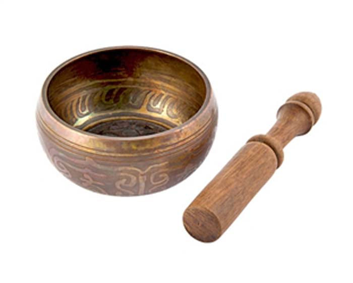 "Om Symbol Tibetan Meditation Singing Bowl - 4""D"