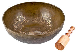 "Elephant Carved Tibetan Meditation Singing Bowl - 12""D"