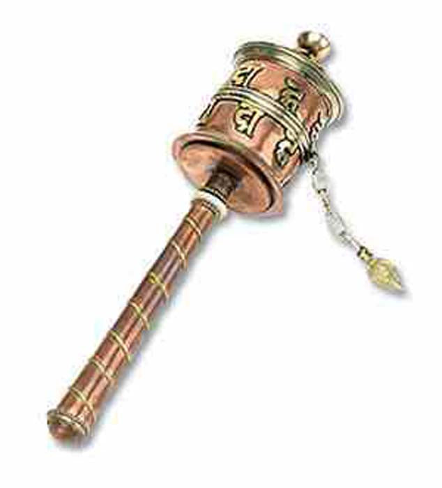 "Tibetan Prayer Wheel 8""L"