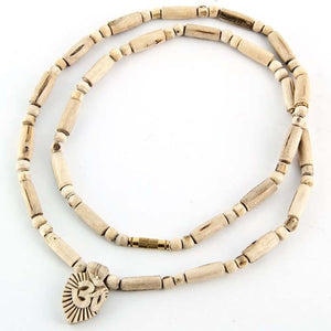 Tulasi Wood Om Symbol Pendent Necklace - 24""