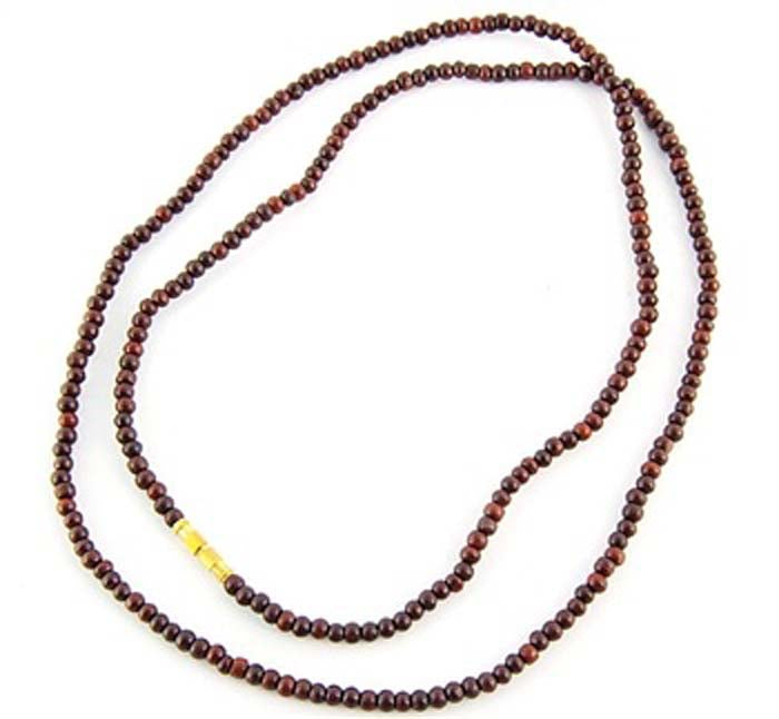 "3mm Red Sandalwood Neck Beads - 32""L"