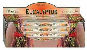 Tulasi Eucalyptus Incense - 8 Sticks Pack (25 Packs Per Box)