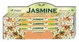 Tulasi Jasmine Incense - 8 Sticks Pack (25 Packs Per Box)