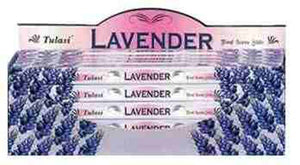 Tulasi Lavender Incense - 8 Sticks Pack (25 Packs Per Box)