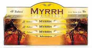 Tulasi Myrrh Incense - 8 Sticks Pack (25 Packs Per Box)