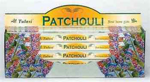 Tulasi Patchouli Incense - 8 Sticks Pack (25 Packs Per Box)