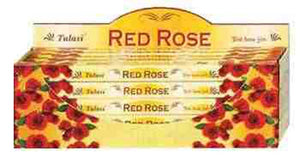 Tulasi Red Rose Incense - 8 Sticks Pack (25 Packs Per Box)